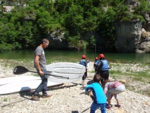 Descente en Paddle dans les Gorges