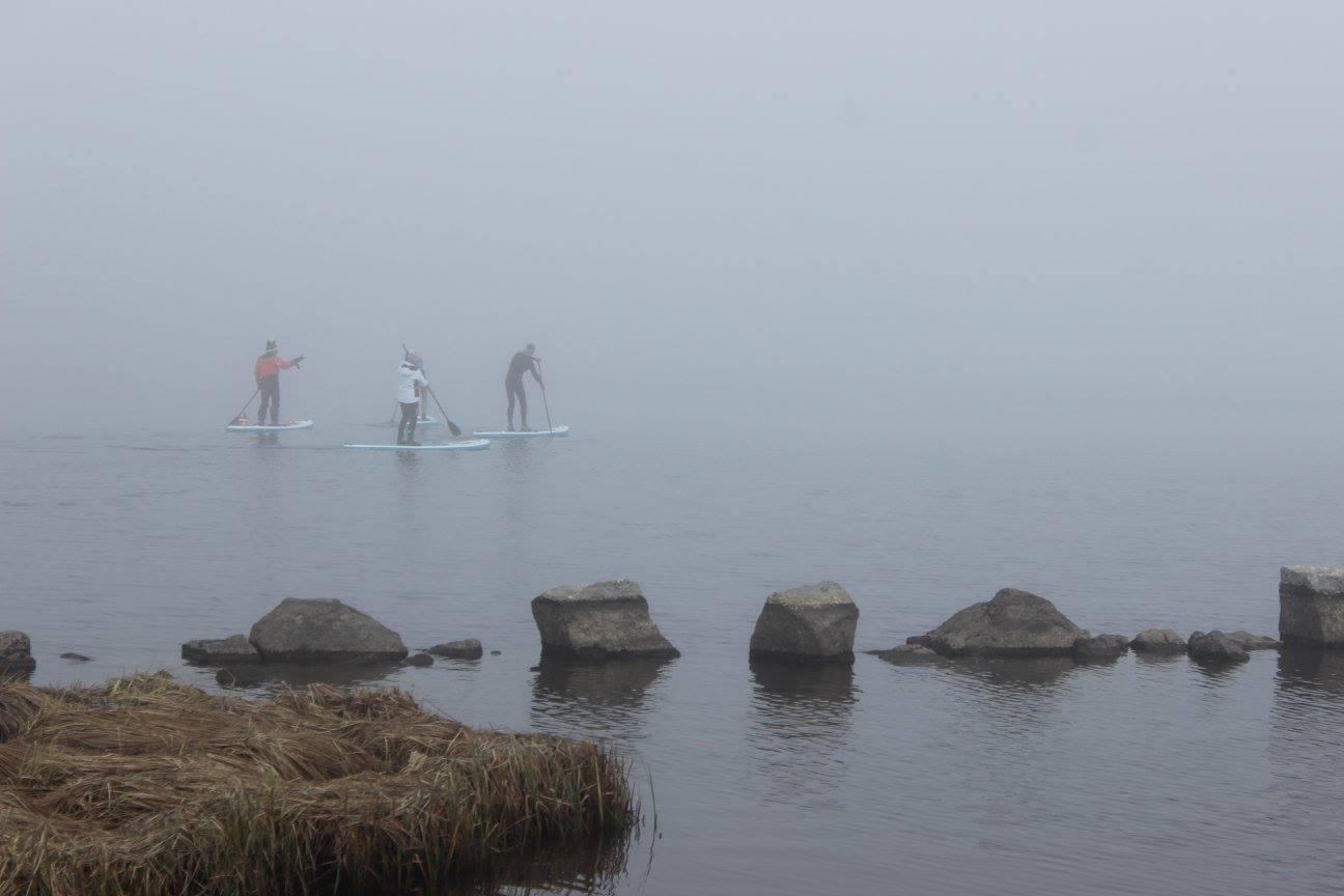 paddle au lac du moulinet en hiver