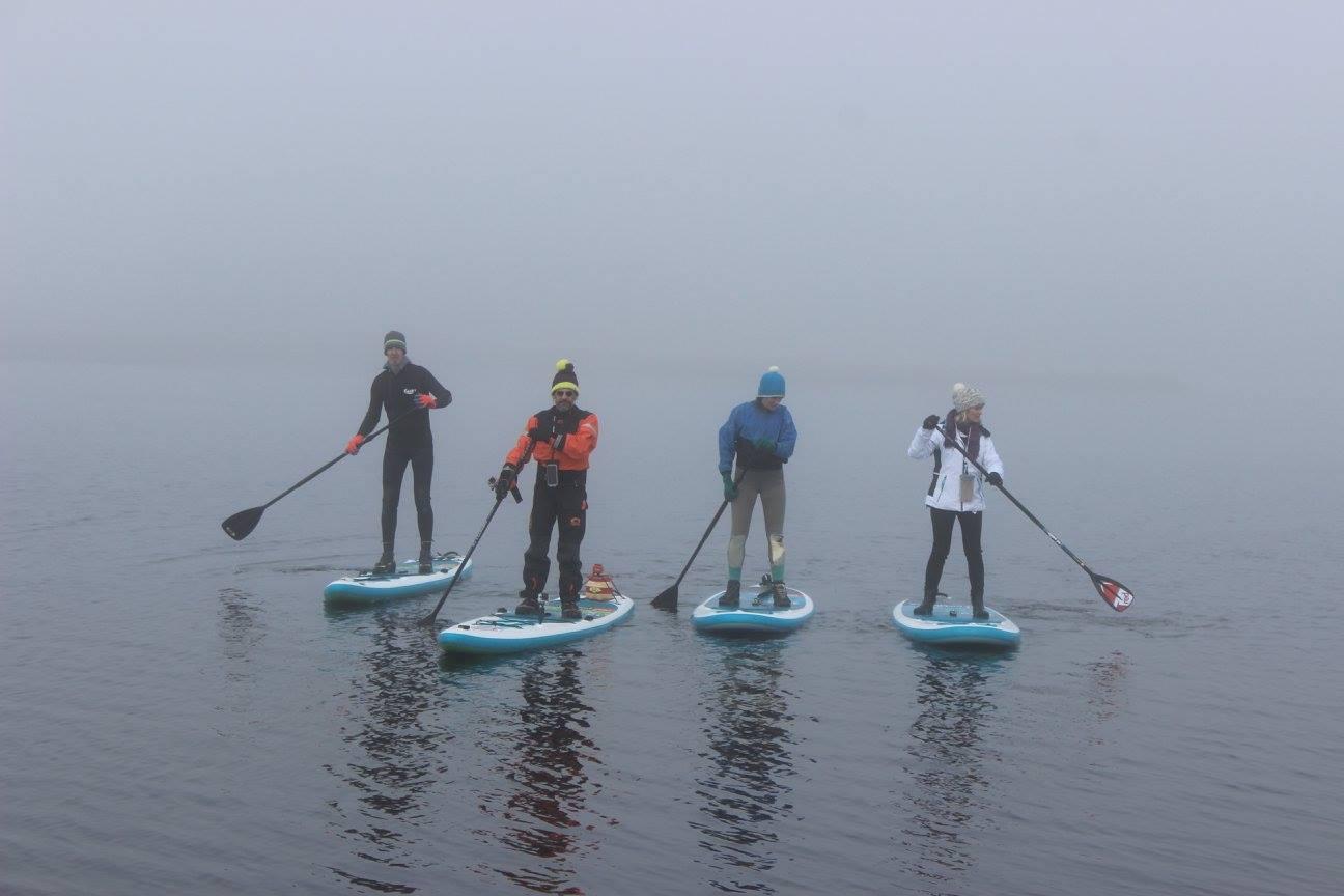 paddle lac du moulinet hiver