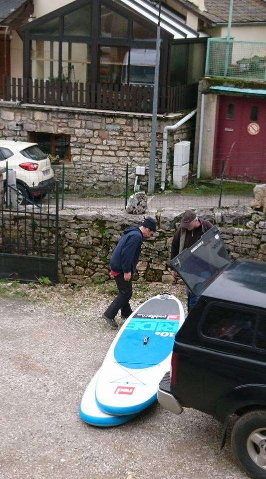 préparation départ red paddle eco