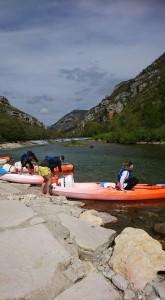 Départ de parcours de canoë sur les Gorges du Tarn